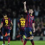 Record Breaking Messi Puts Barcelona Top
